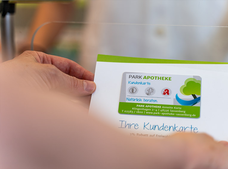 Parkapotheke Sassenberg – Kundenkarte